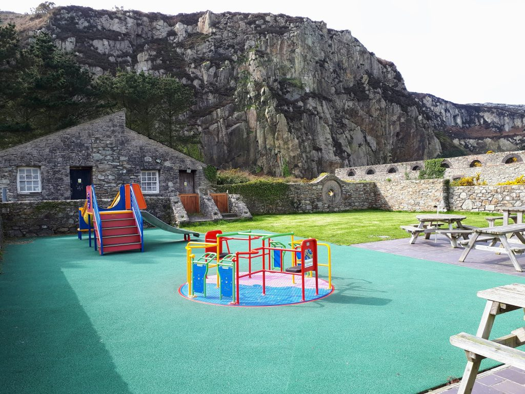 A picture of the children's play area at the breakwater country park in Holyhead
