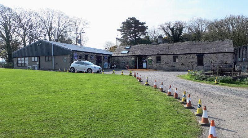 the picture show the main building at Foel Farm Park