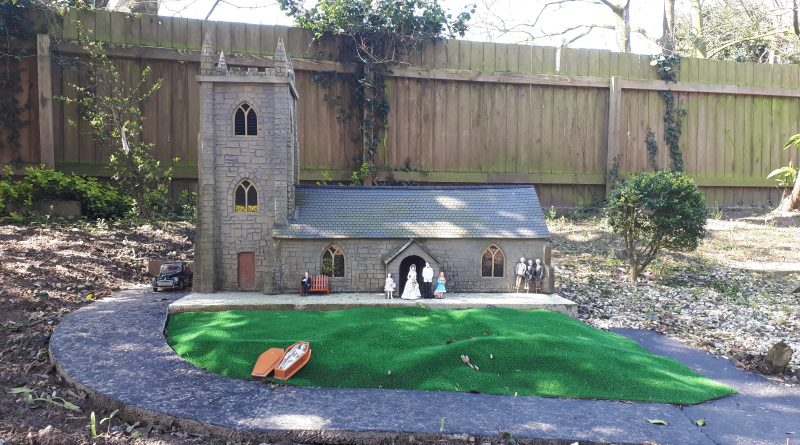 a picture of one of the models within the model village