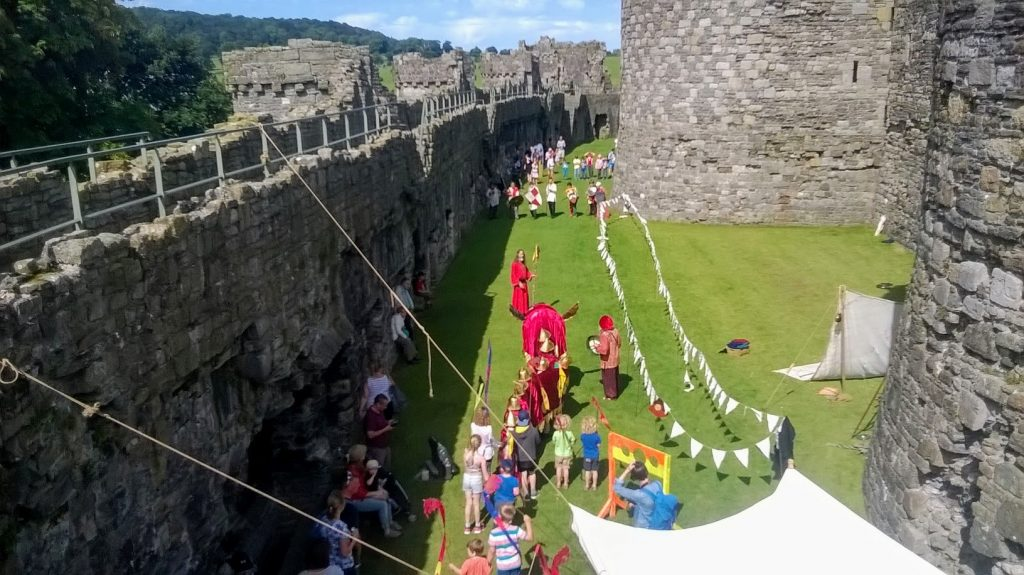 A show for visitors within beaumaris castle, its shows mock knights fighting a large red dragon