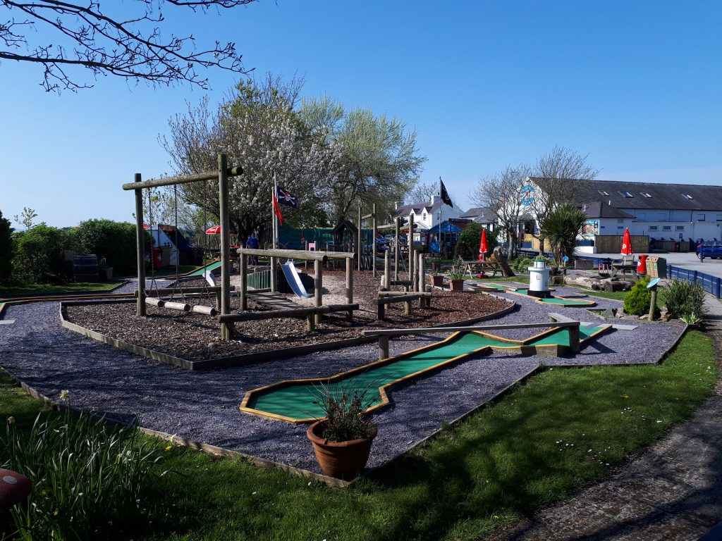 The picture shows the childrens play area outside Anglesey sea zoo
