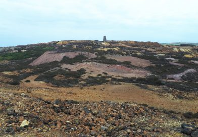 A picture of the open cast mine Parys Mountain in Anglesey