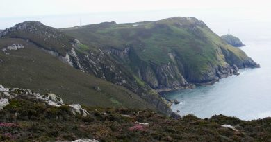 The image shows South Stack from an alternative viewpoint